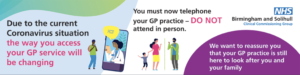 Do Not attend GP practice in person