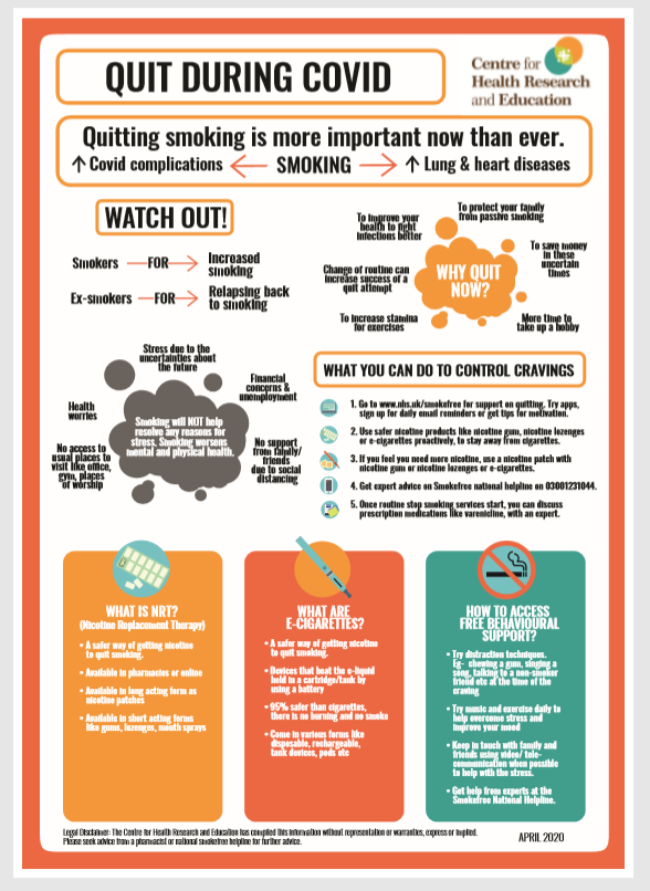 Quit Smoking during covid